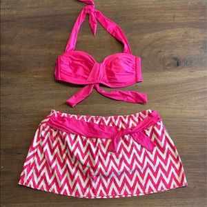 Antonio Melani Two Piece Swimsuit Size M Pink